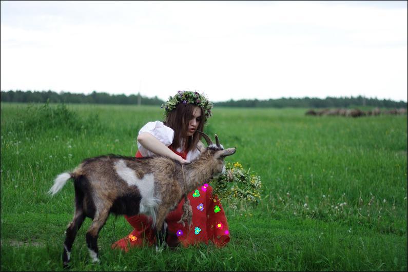 Как сделать фото с козой