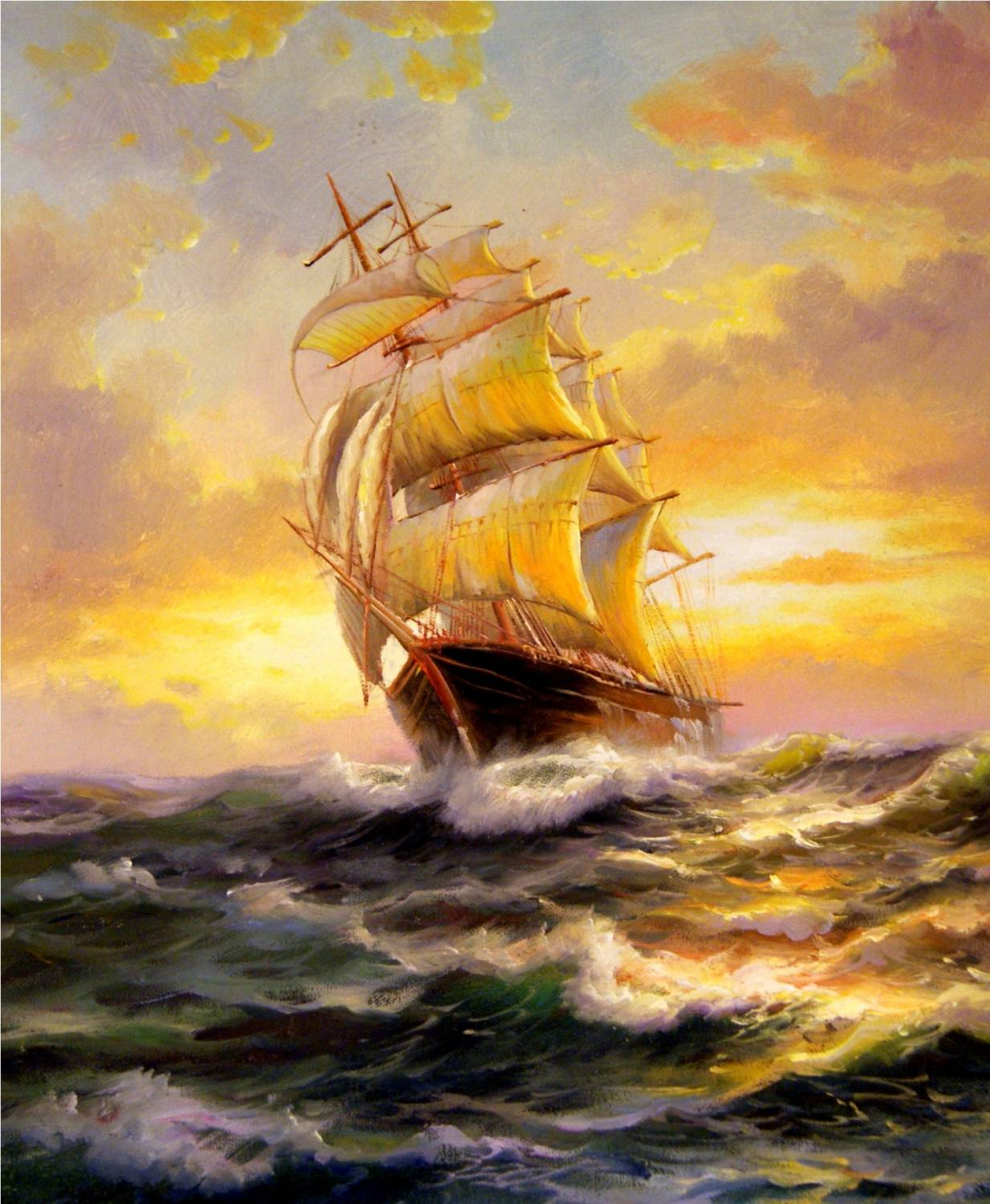 A harbor is safe in rough seas ship
