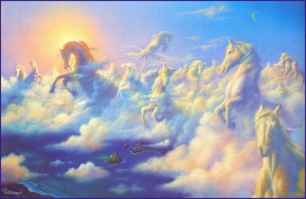 Псалом там вдали за облаками