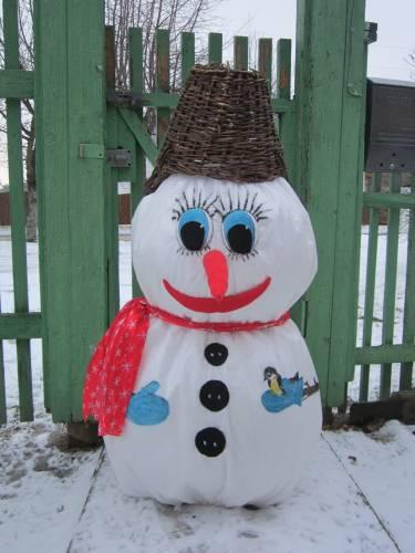 Как сделать снеговика из любого материала