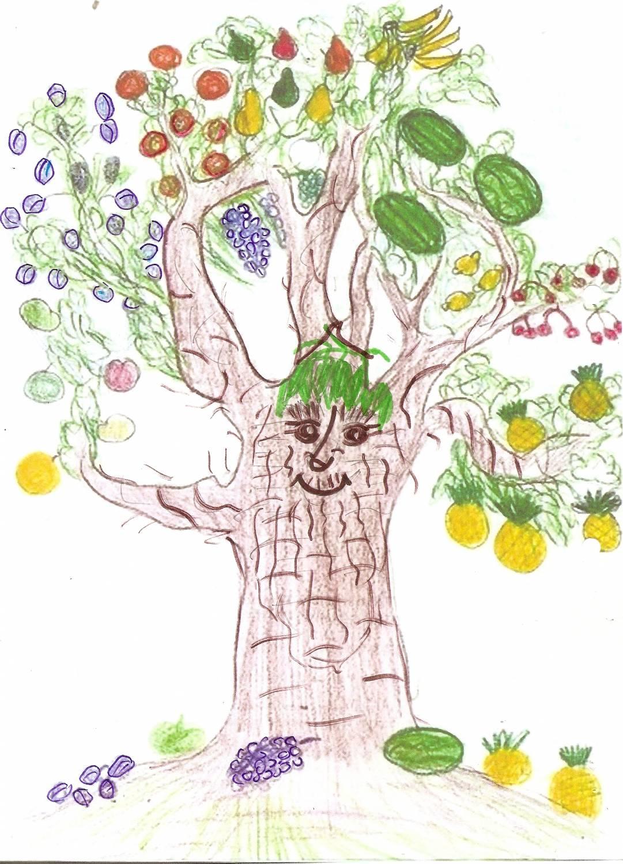 Детский рисунок дерево карандашами