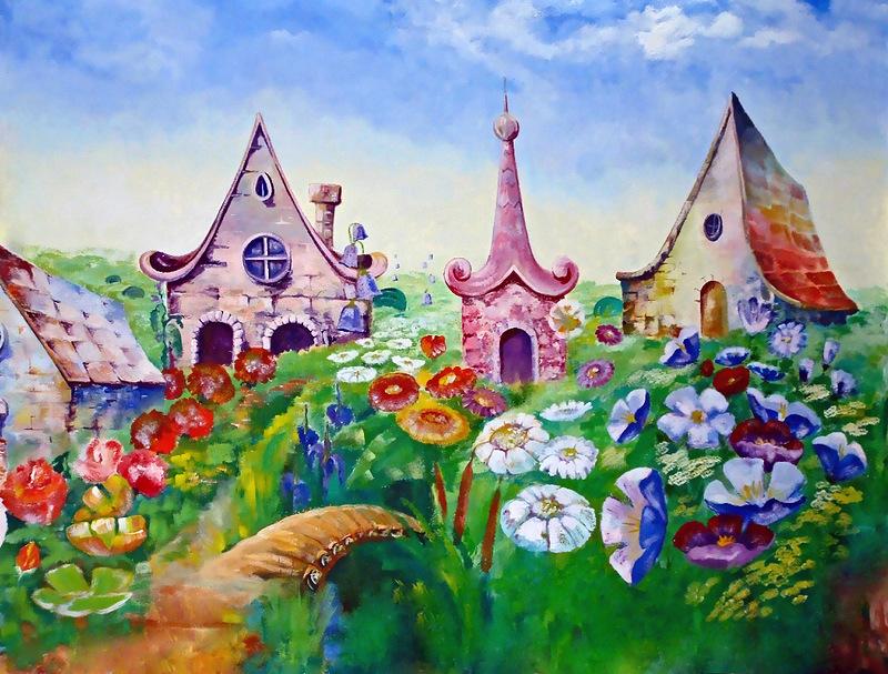 Цветочный город открытки, открытки