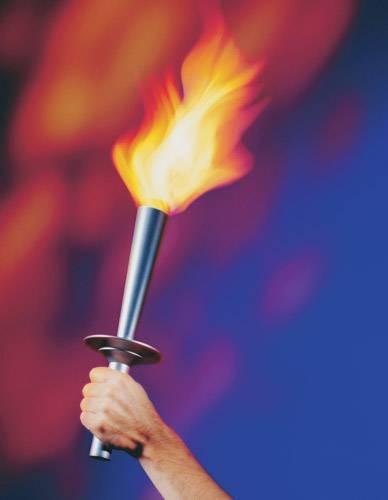 Горящий факел своими руками