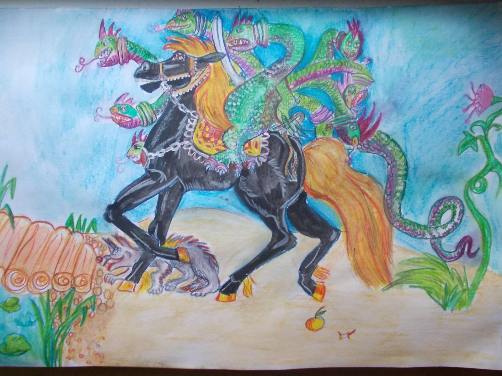 Рисунок про сказку иван крестьянский сын 4